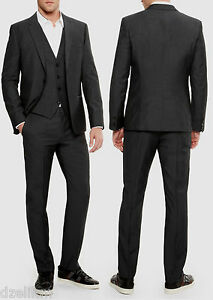 NWT Hugo Boss Black Label Slim-fit 3-piece Stripe Luxurious