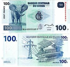 CONGO AFRIQUE Billet 100 FRANCS 2007 ELEPHANT NEUF UNC