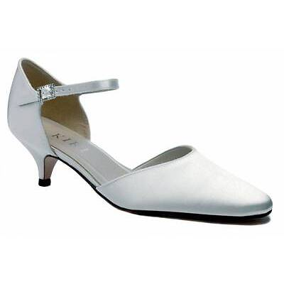Ivory Satin Bridal Bridesmaid Wedding Shoe All Sizes Pure & Precious Celeste L/H