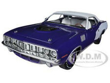 1971 PLYMOUTH CUDA HEMI VIOLET W/WHITE VINYL TOP 1/24 BY M2 MACHINES 40300-37C