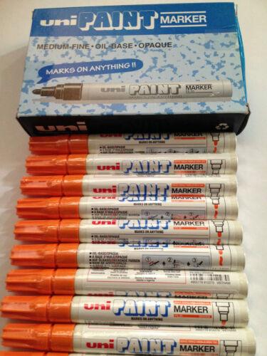 Oil-Base 12pcs x Uni Paint Marker PX-20 Medium ORANGE