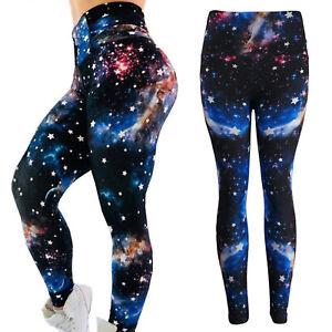 Damen-Galaxis-Leggings-Sport-Yoga-Fitness-Gym-Leggins-Jogginghose-Hose-Leggins