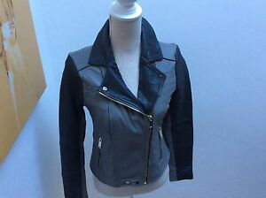 River island grey amp black leather jacket size 10 - <span itemprop='availableAtOrFrom'>Deal, United Kingdom</span> - River island grey amp black leather jacket size 10 - Deal, United Kingdom