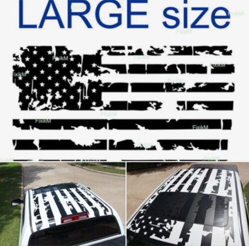 trailer suv Vinyl decal AMERICAN flag sticker on top roof truck van car