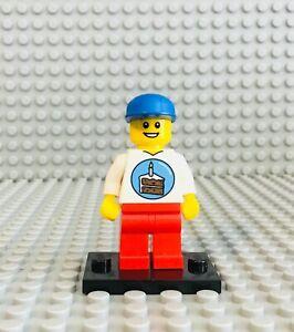 Surprising Lego Birthday Party Boy Minifig On Base Cake Topper Black Hair Red Funny Birthday Cards Online Elaedamsfinfo