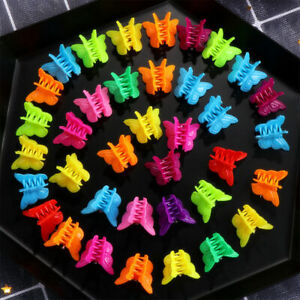20-100Pcs-Butterfly-Hair-Clips-Girls-Claws-Kids-Baby-Mini-Hairpins-Accessories