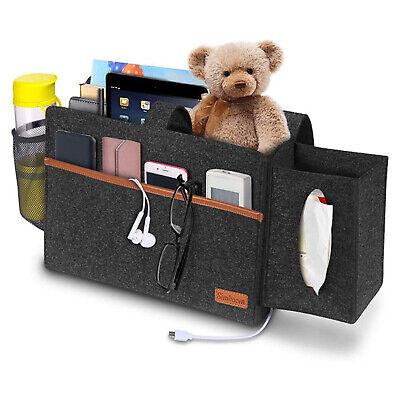 Sofa Bedside Storage Caddy Hanging Bag Felt Pocket Organizer Book Holder Home UK