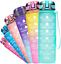 Fidus 32oz Leakproof Tritran BPA Free Water Bottle with Motivational Time Marker