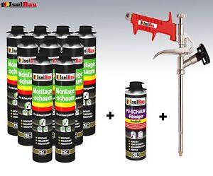 Pistolenschaum-750-ml-Montageschaum-Schaumpistole-Pistolenreiniger-Bauschaum