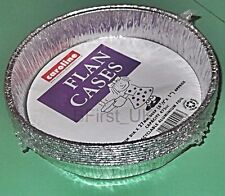 27 Flan Cases Plates Baking Dishes Oven Tin Foil Takeaway Food Container 1052