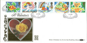 22-Carat-Gold-Benham-Official-First-Day-Cover-1989-Saint-Valentines-G030