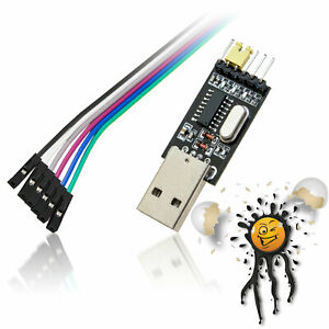 Ch340-USB-TTL-rs232-UART-serial-CONVERTITORE-Set-Cavo-3-3v-5v-OSX-WIN-Linux-and