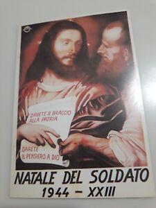 Buon Natale Fascista.Cartolina Manifesto Rsi Natale Del Soldato 1944 Propaganda Fascista Ebay