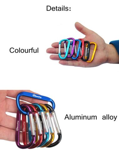 Outdoor Climbing Aluminium Alloy D Shape Buckle Carabiner Survial Key Chain clip