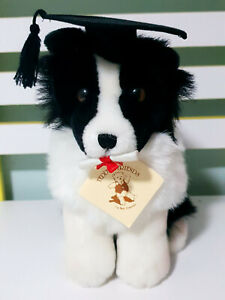 Teddy-amp-Friends-Kim-Clever-Dog-Plush-Toy-with-Diploma-amp-Oxford-Cap-23cm-Tall