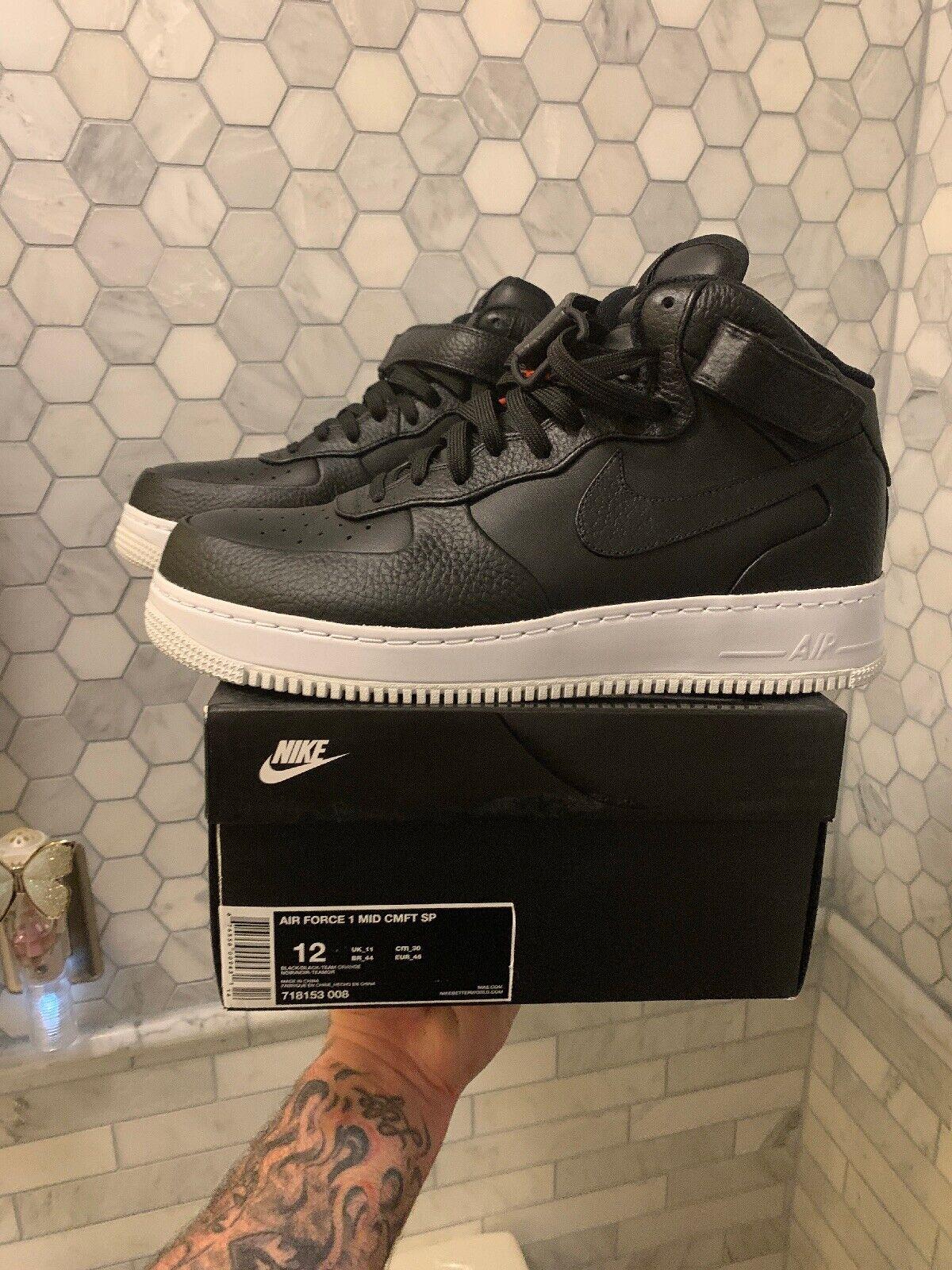 Nike Air Force 1 MID CMFT SP 718153 008 NikeLab Black Men's Size 12