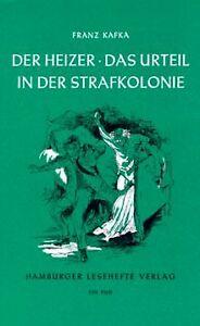 Der-Heizer-Das-Urteil-In-der-Strafkolonie-von-Kafka-F-Buch-Zustand-gut