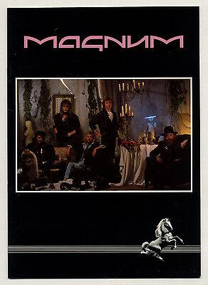 MAGNUM 1987 European concert tour programme official original quality glossy
