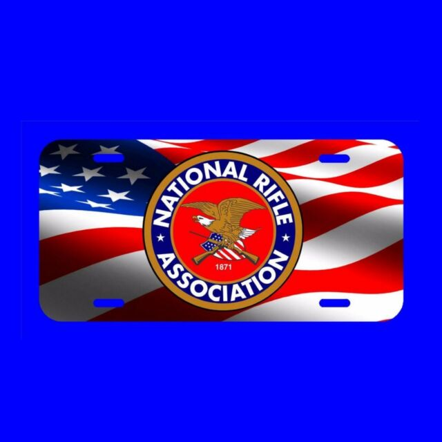 Nra National Rifle Association Us Flag License Plate Made In The Usa