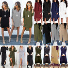 Womens Shirt Dress Tops Chiffon Long Sleeve Casual Party Shirts Blouse Plus Size
