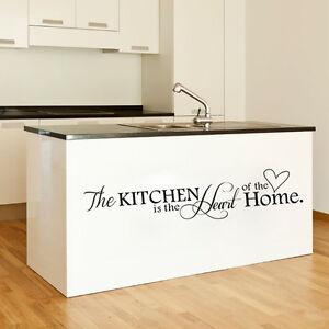 Wandtattoo Kitchen Küche Deko Aufkleber Wand Bild Spruch ...