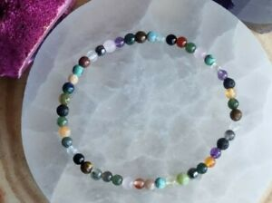 WEIGHT LOSS SUPPORT, APPETITE SUPPRESSANT, 4mm CRYSTAL HEALING GEMSTONE BRACELET