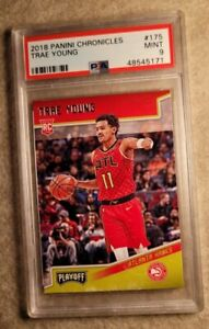 2018-19 Panini Chronicles Playoff #175 Trae Young Hawks RC Rookie PSA 9💎💲📈