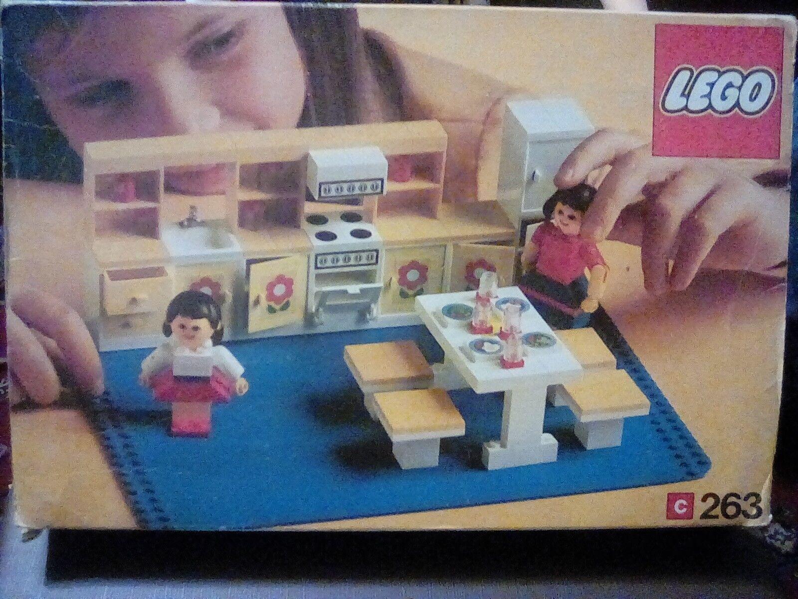 VINTAGE LEGO Set da gioco in scatola 263, 100% COMPLETO