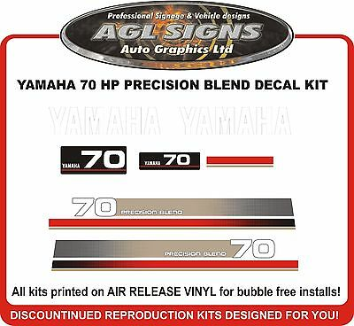 1990/'s  YAMAHA 70 HP Precision Blend Outboard Decal Kit reproductions  60 hp