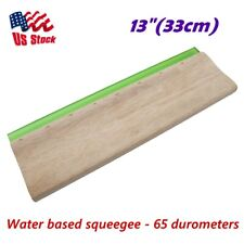 Us Stock 13 33cm Silk Screen Printing Squeegee Scraper Scratch Board Waterbase