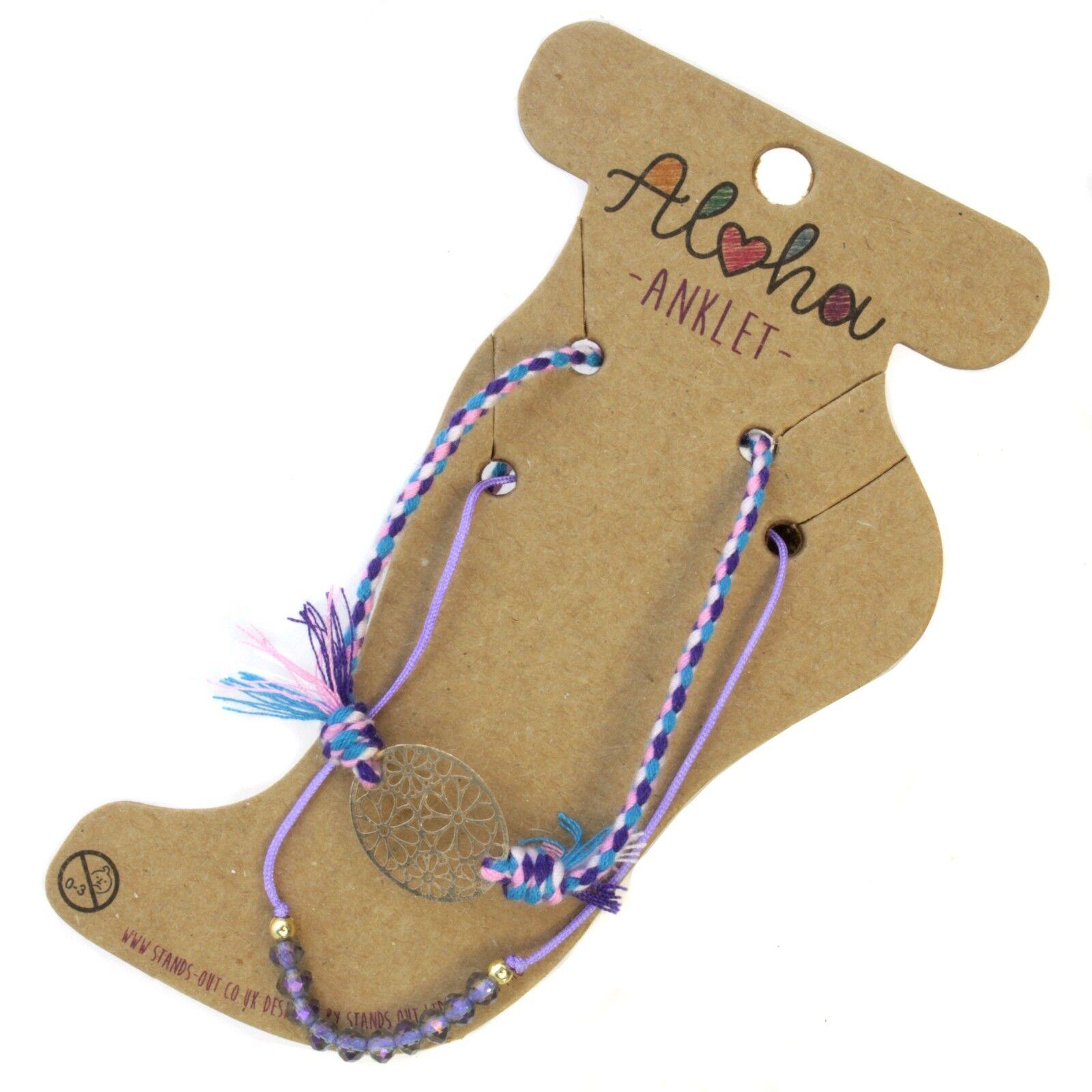 aloha enfant cristal plage corde bracelet vacances d 39 t bracelet de cheville. Black Bedroom Furniture Sets. Home Design Ideas