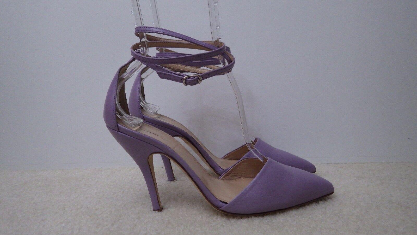 NEU Damens J.Crew Ankle Strap Leder Pumps, Persian Violet, Größe 7