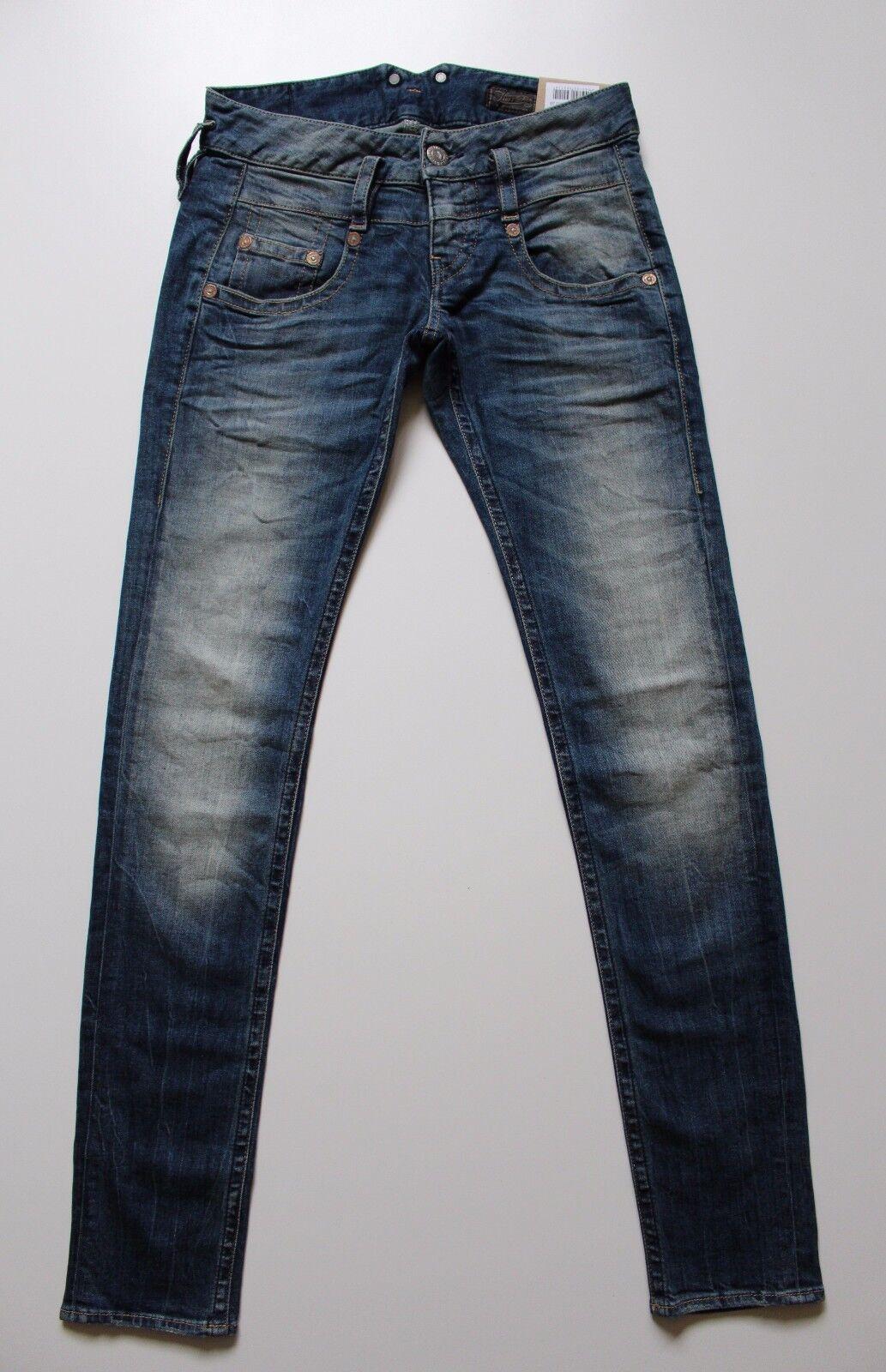 Herrlicher Damen Jeans Pitch Slim 5303 D9661 Blau W26 31 32 L32