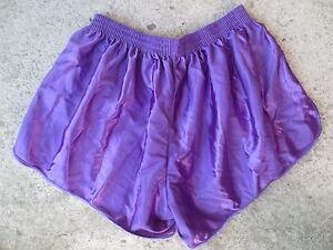 Short-MAIL-SPORT-vintage-nylon-shinny-made-in-France-annees-80-violet-6x7-L