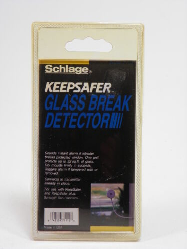Schlage Keepsafer Glass Break Detector 71-112 Sealed NOS