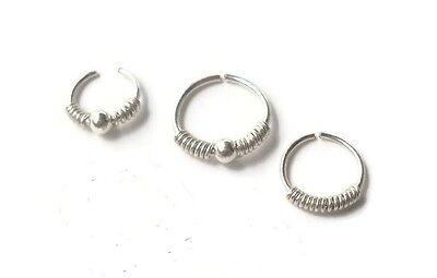 Septum Ring,Nose Ring,cartilage,helix,tragus,ear hoop earring 925 Sterling
