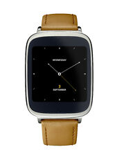 Smart Watch ASUS Zen Watch WI500Q Brown Leather Silver Android 4GB ZenWatch