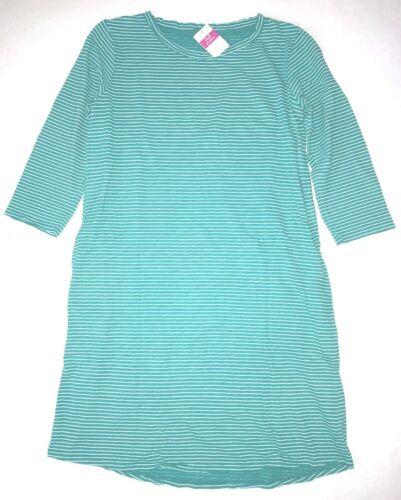 FRESH PRODUCE Large Caribbean Green PINSTRIPE CATALINA Dress $79.00 NWT New L