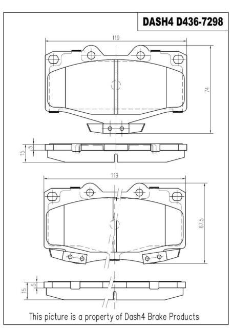 Dash4 MD532 Semi-Metallic Brake Pad