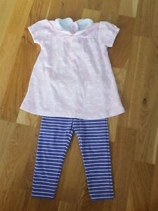 1f21bb01b JoJo Maman Bebe 6-12 months outfit set baby Girl Peter Pan Collar ...
