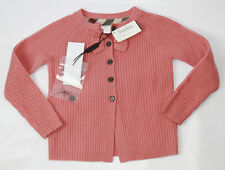 AUTH $265 Burberry Children Girl Pink100% Cashmere Sweater 4