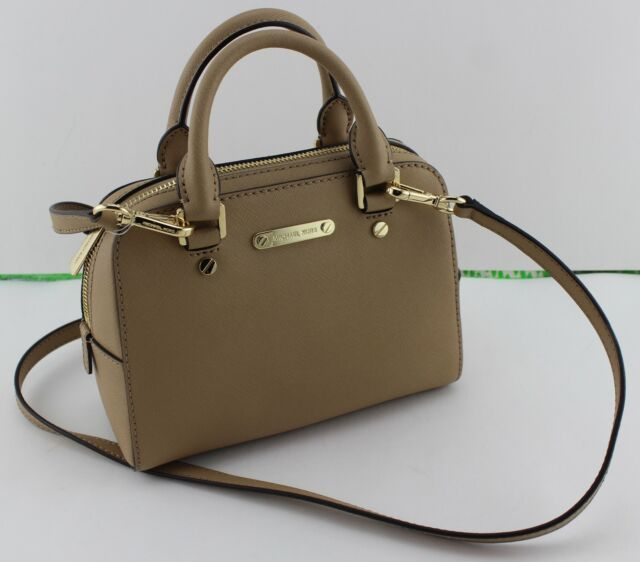 5a90cc3ea42b Michael Kors Jet Set Travel Small Crossbody Satchel Saffiano Leather Camel