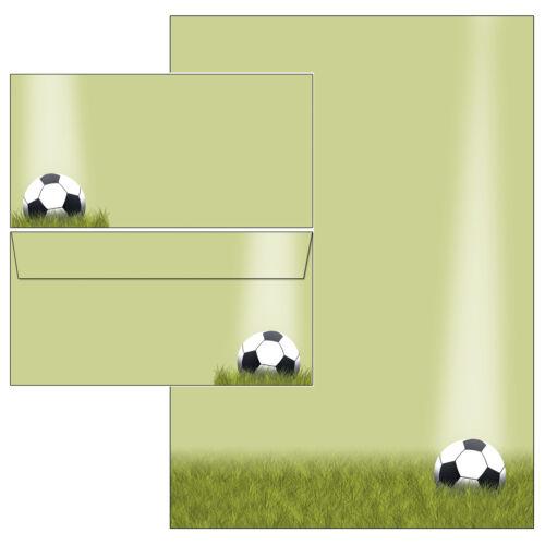 Fußball Sport Sportverein Set Motivpapier Briefpapier 20 Blatt A4 20 Kuverts