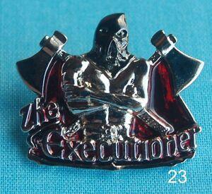 FäHig The Executioner Henker Schafrichter Tod Alchemie Skull Pin Badge Anstecker # 23 Strukturelle Behinderungen Buttons & Pins Esoterik, Mystik & Magie