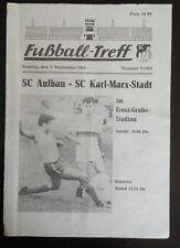 Programm 6.9.64 1.FC Magdeburg Karl Marx Stadt  DDR Oberliga FCM Chemnitzer FC
