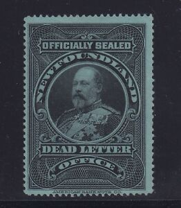 Newfoundland-Scott-OX1-F-VF-OG-mint-previously-hinged-nice-color-see-pic