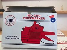Vintage Ims Mx 2200 Pricemarker One Line With Box And 2 Rolls Of Labels Vtg