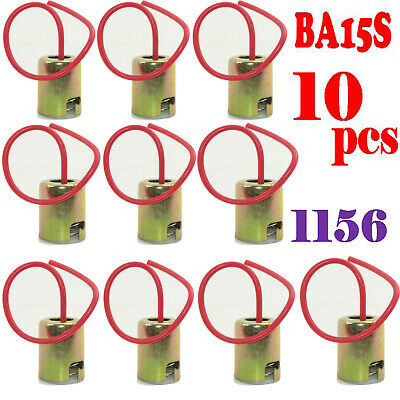 10x BA15S 1156 S25 P21W Connector Car Bulb Wire Lamp Socket Truck Light Holder