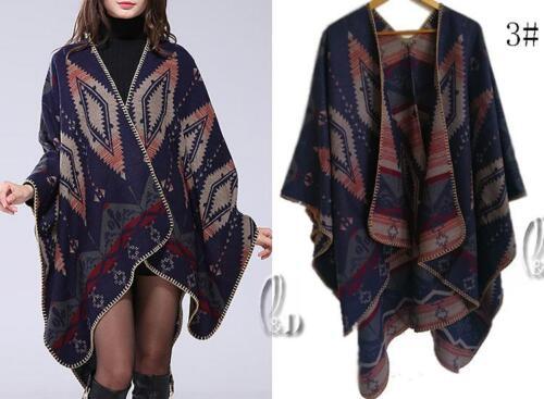 AU SELLER Blanket Poncho Cape Plaid Cloak Coat Warm Oversize SCARF//SHAWL sc072-3