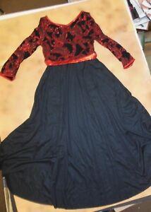NWT Glittered Black Kelly Green Ballet Lyrical Glittered Bodice Ch//Ladies sequin